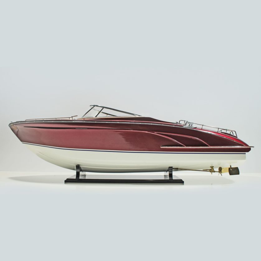 Handmade speed boat model of the Riva Rama