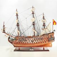 Handgefertigtes Schiffsmodell aus Holz der San Felipe