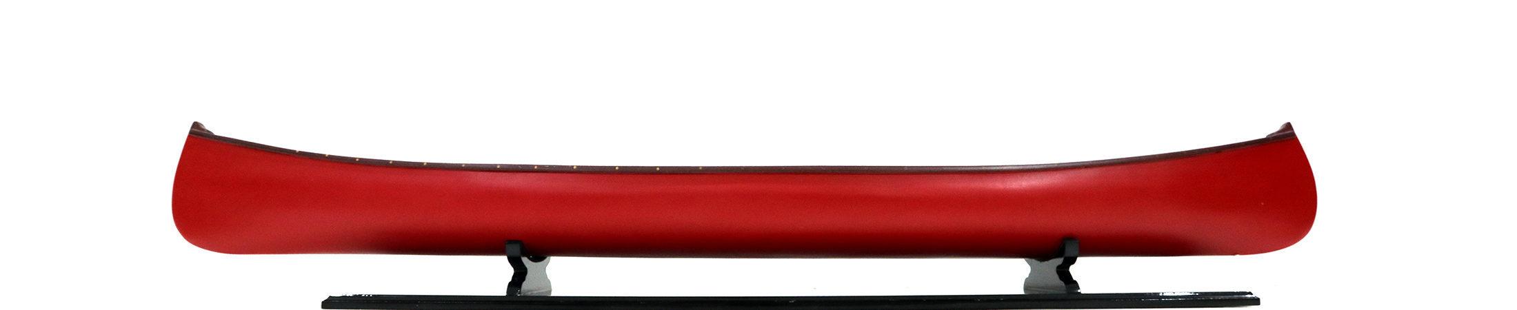 Modell eines Gerippten Kanus rote Farbe 105cm länge handgefertigt aus Holz