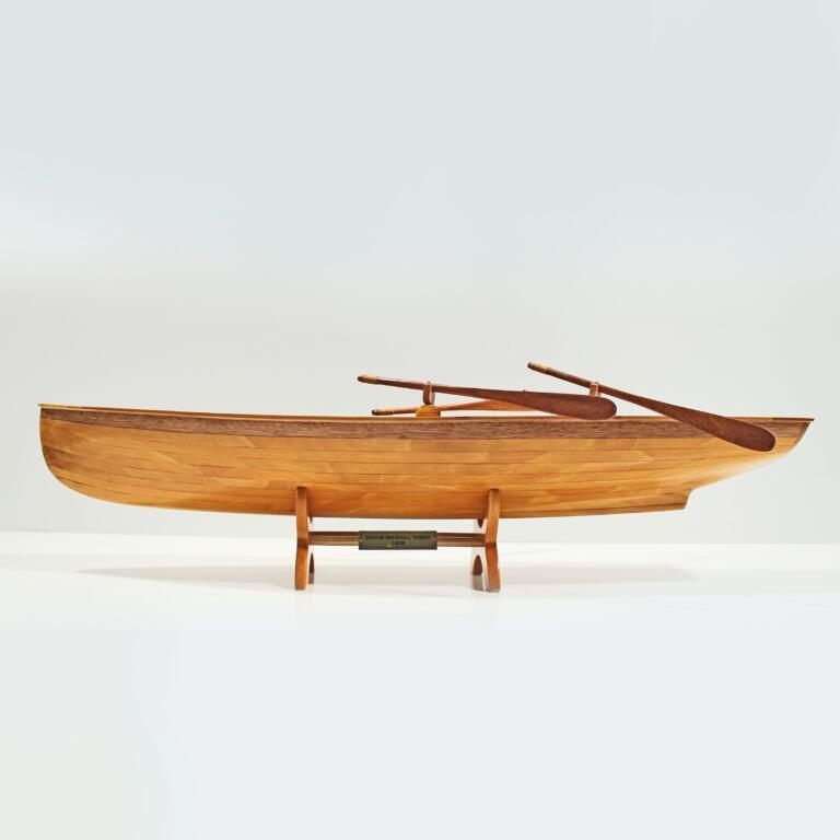 Handgefertigtes Schiffsmodell aus Holz eines Whitehall Boston Tenders