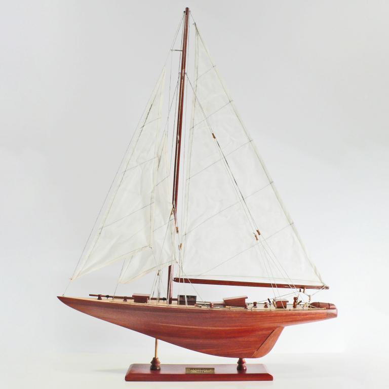 Handgefertigtes Schiffsmodell aus Holz der Rainbow