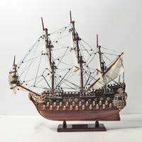 Handgefertigtes Schiffsmodell aus Holz der San Felipe (45cm)